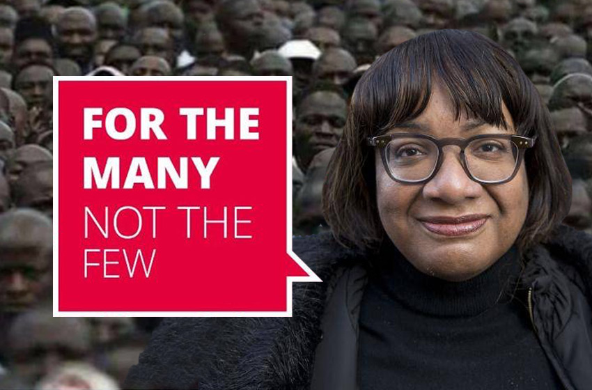 Diane Abbott – Ban white people standing as MPs