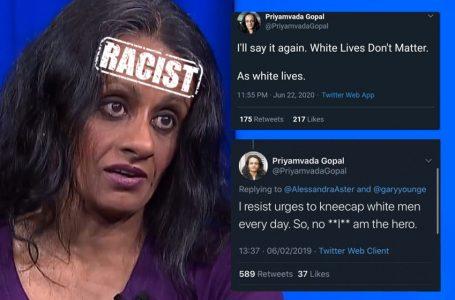 """""""White Lives don't matter"""" declares race hate Cambridge 'academic'"""