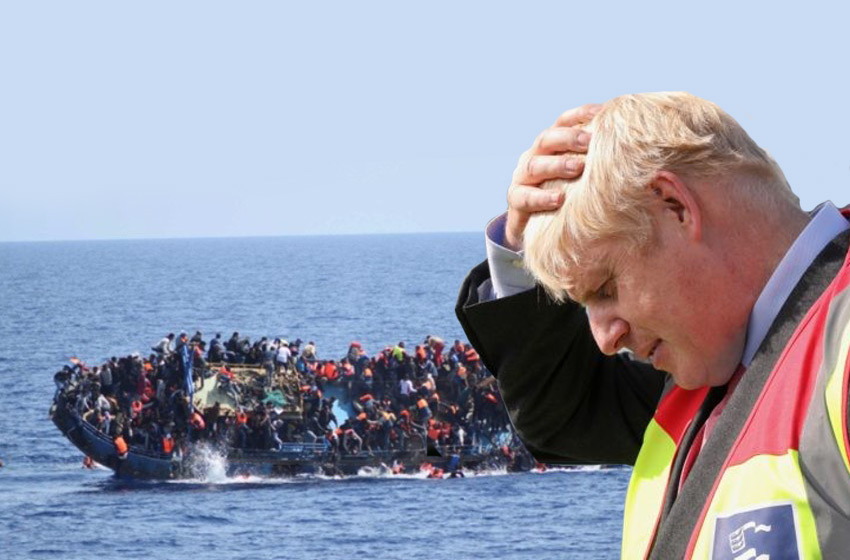 Boris Johnson assists the illegal invasion of Britain by boat migrants from France
