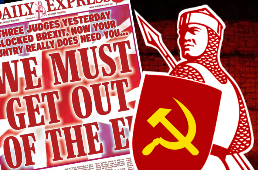 Daily Express seized by Far Left